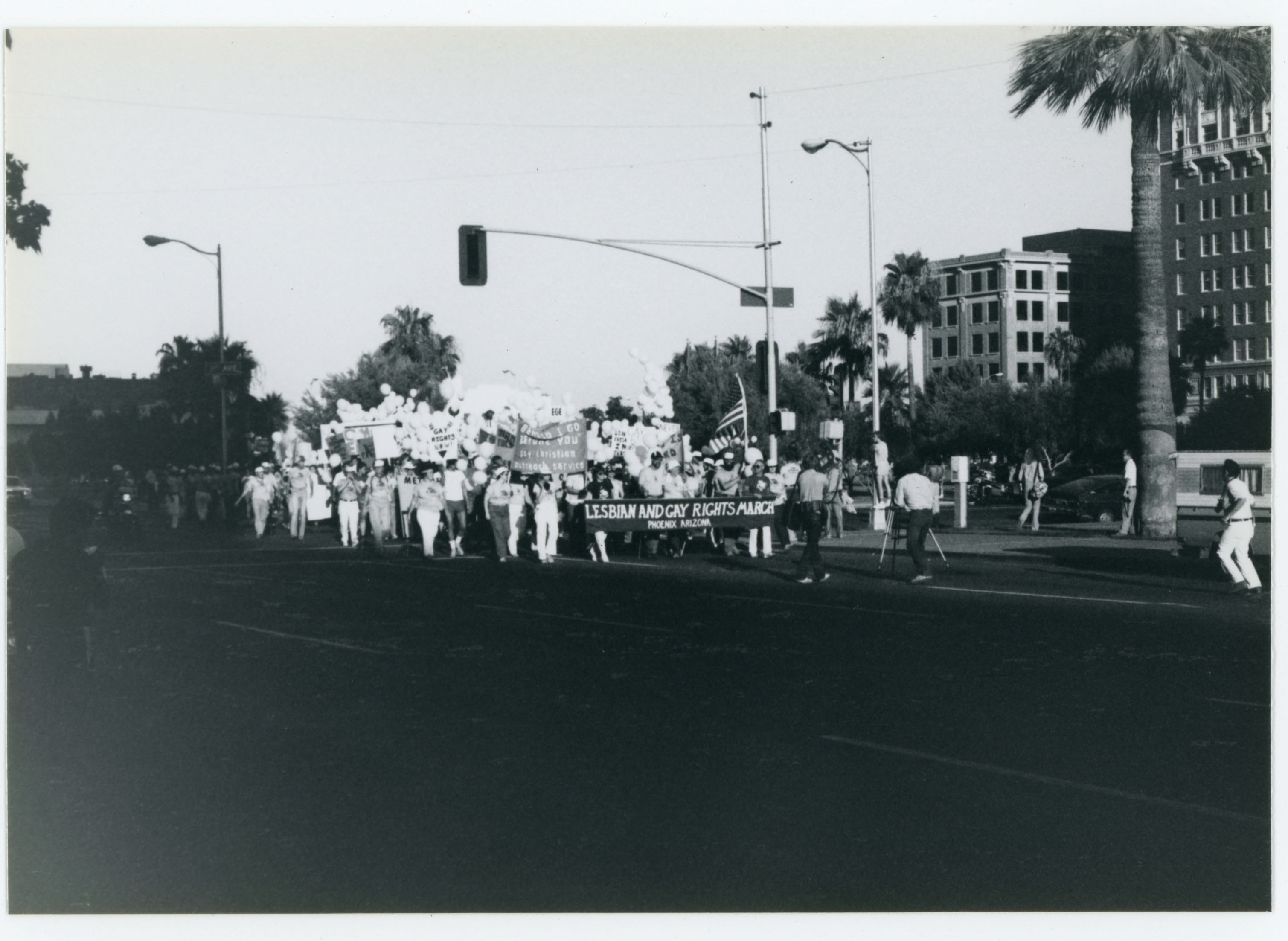 Lesbian and Gay Rights March; Phoenix, Arizona; 1982