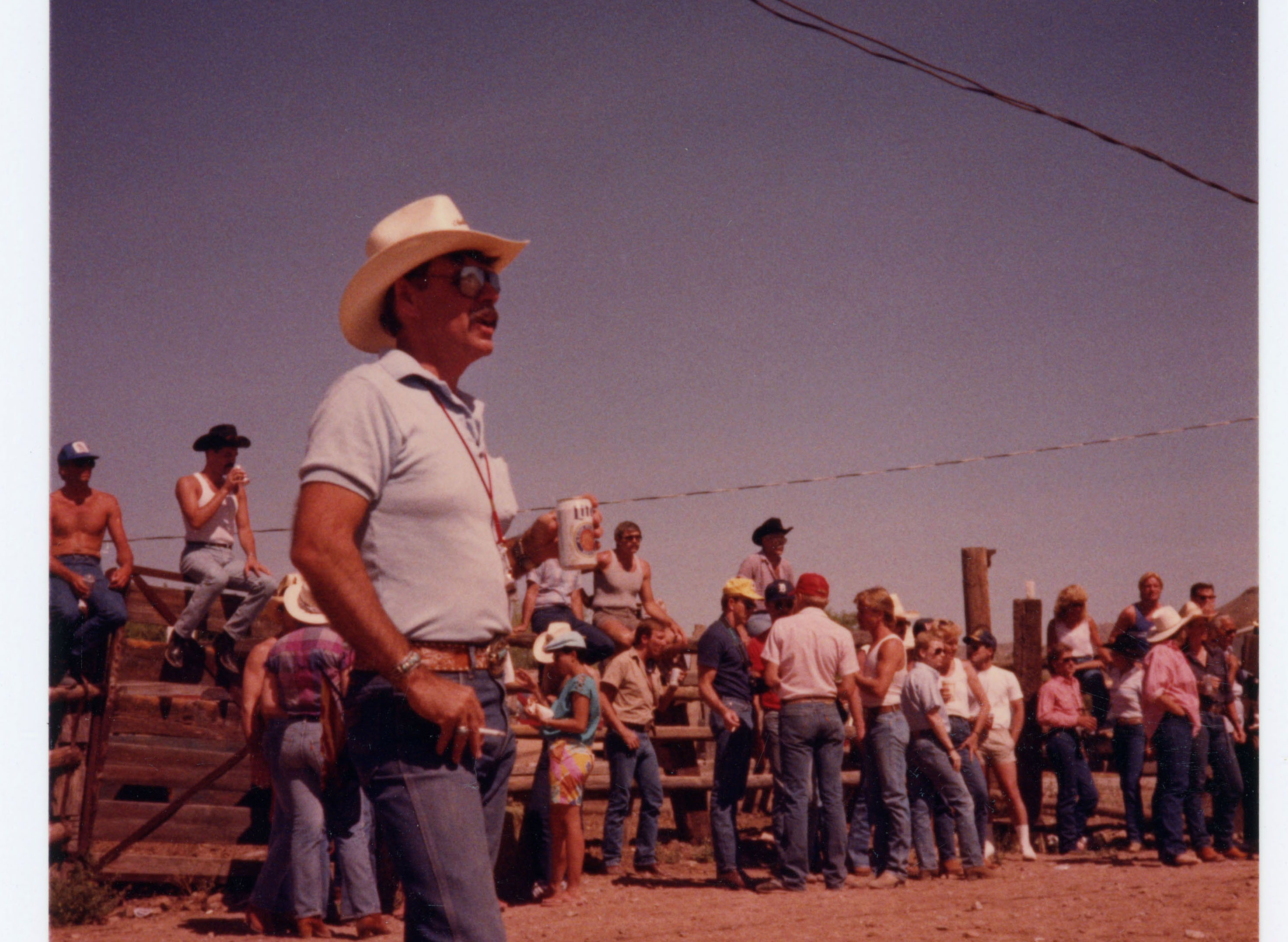Man at rodeo; Arizona Gay Rodeo Association; 1986