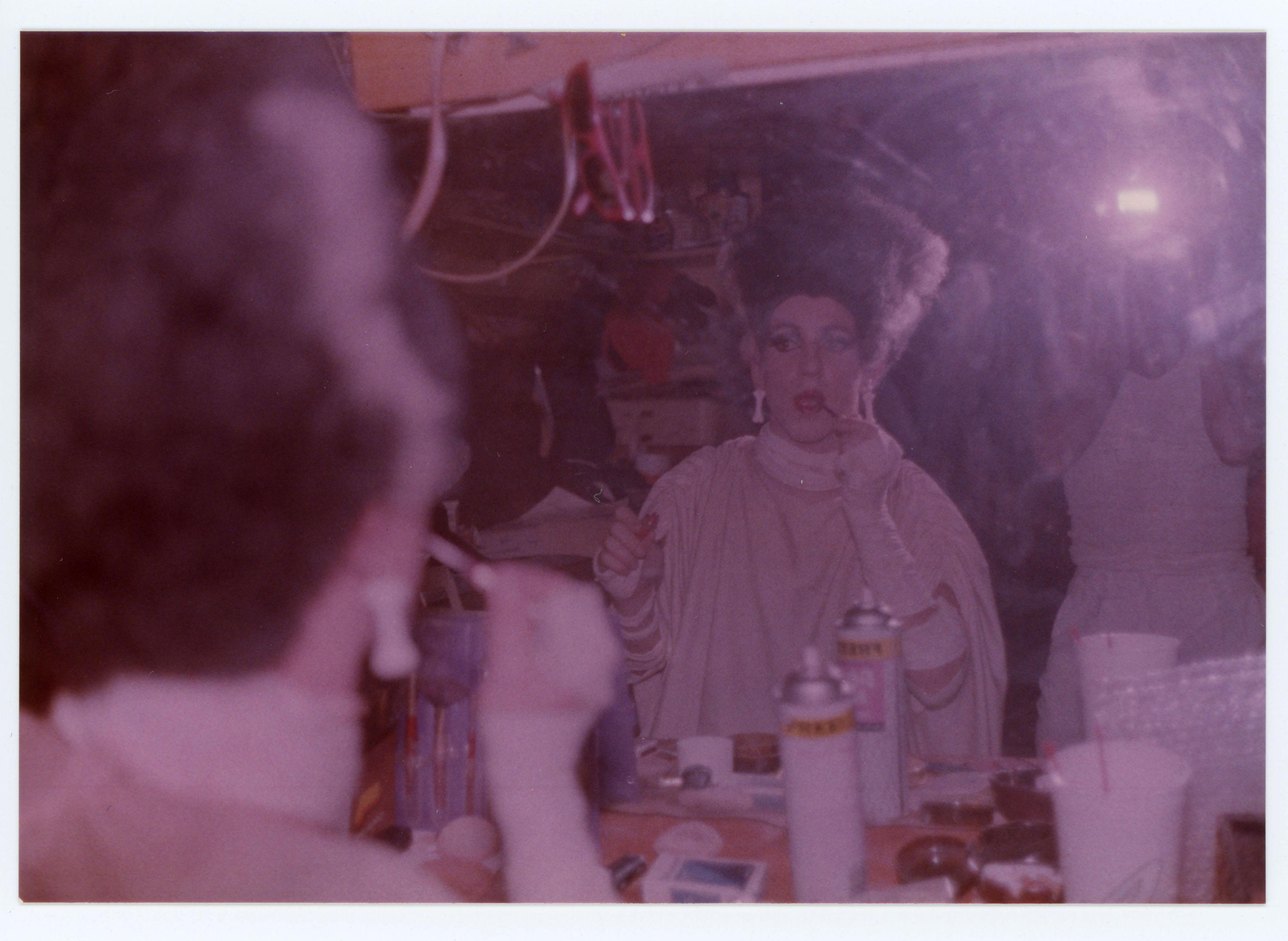 Performer putting on makeup; Desert Overture Concert; 1987