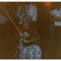 Man dressed as old lady