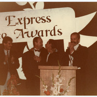 Group of people at an award ceremony