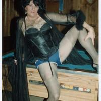 Drag performer posing