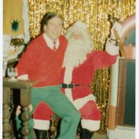 Man on Santa's lap
